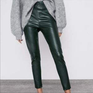 NWT Zara Faux Leather Legging